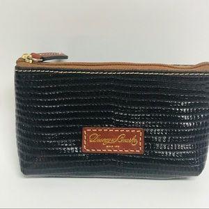 Dooney & Bourke zipper pouch dark brown emboss